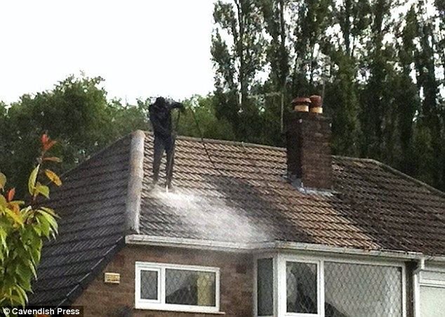 how not to clean a roof